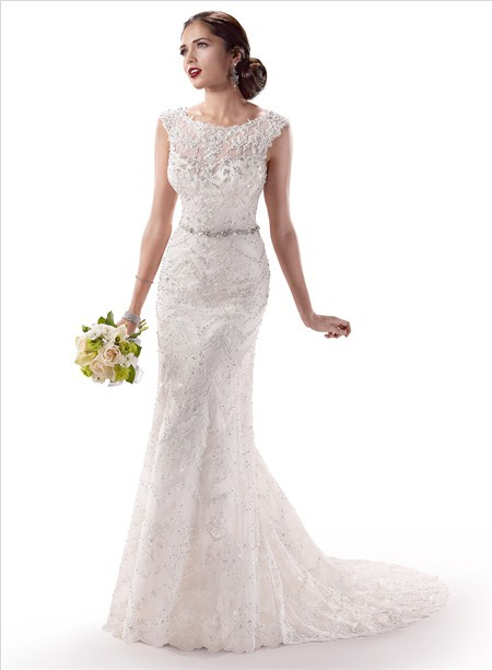 gorgeous-sheath-illusion-bateau-neck-lace-wedding-dress-with-crystal-buttons