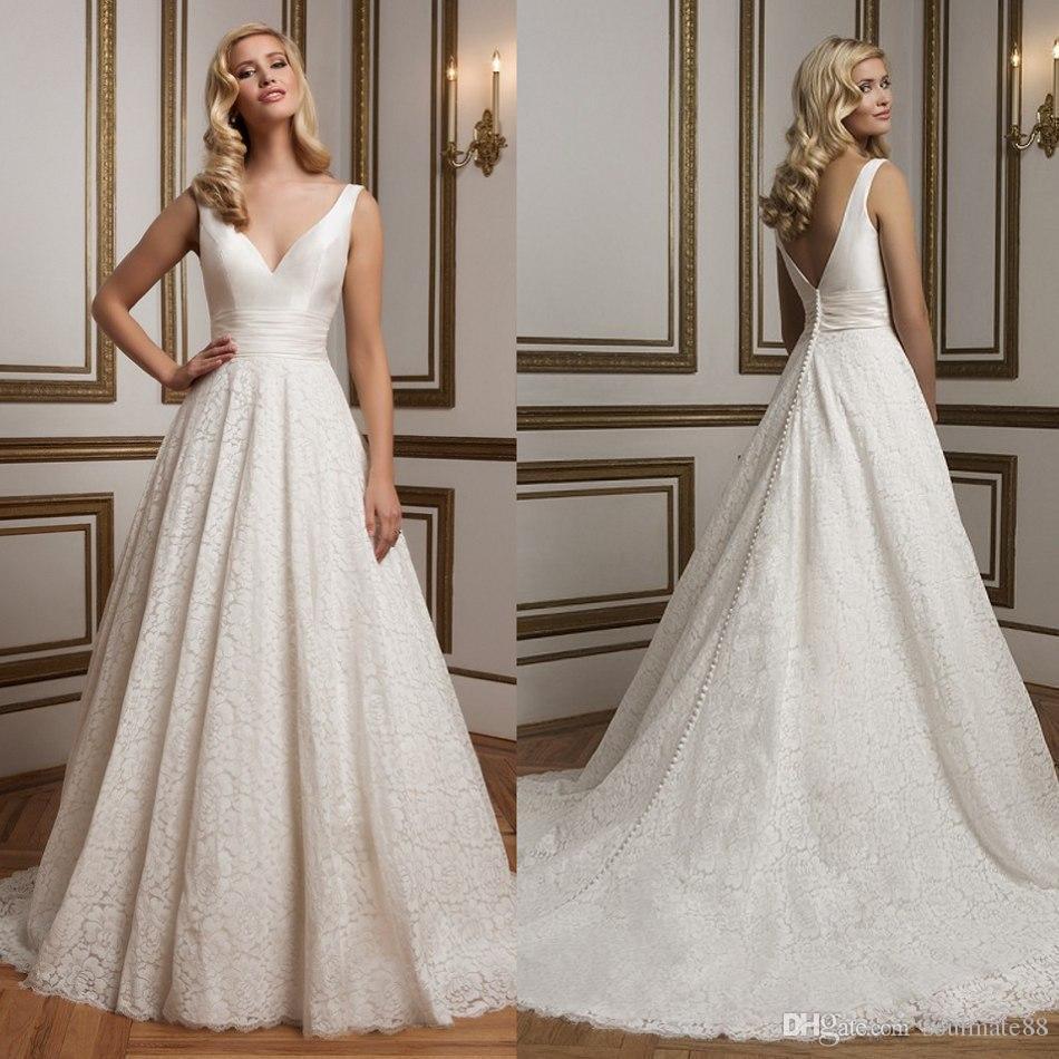 wholesale-weddings-dresses-2016-v-neck-empire